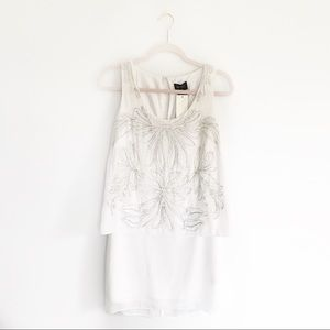 NWT Laundry by Shelli Segal White Beaded Dress